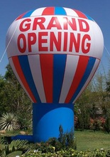advertisement giant inflatable cold air balloon