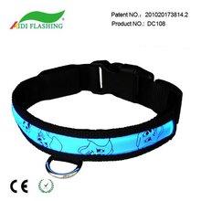 Led illuminated dog collar
