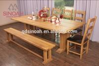 Wood dining room furniture solid oak 2.2m bench(EL22B)