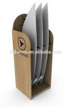 High quality stylish standing wood folding display shelf