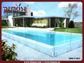 Painéis cerca de segurança cerca de piscina de vidro temperado para piscina