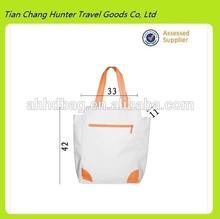 new design blank canvas tote shopping bag portable reusable shopping bag