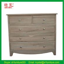 Modern design antique home furniture white oak wood cabinet (RF055)