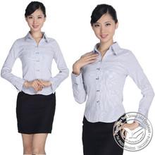 yarn dyed new style 100% bamboo fiber 100% cotton long sleeve womens dress shirts
