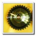 fabricado del transportador de rodillos industriales de piñón c45 piñón parte