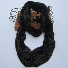 New style Cotton tube scarf with sequin