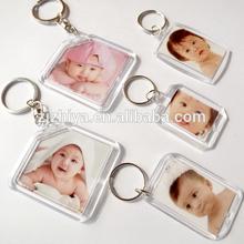 Insert Photo plastic blank keyrings wholesale