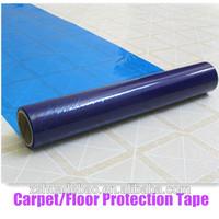 PE blue hard floor protective film wholesale