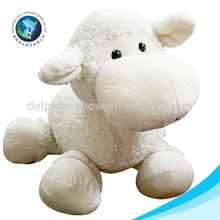 2015Cute white baby sheep plush toy soft lamb
