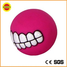 Funny rubber dog teeth ball toy water ball smile ball