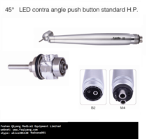 45 LED contra angle push button standard handpiece dental equipment
