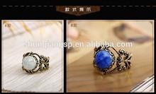 2014 Vintage ceramic ice crack fashion finger ring