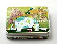 Elephant Tinplate Cards Tin with CMYK Printing