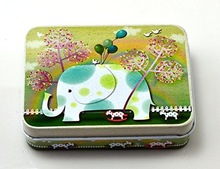 Elephant Tinplate Cards Tin with CMYK Printing