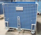 Folding Pallet Mesh Rolling Trolley Storage Cage