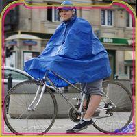 S493 yellow pvc bicycle rain poncho
