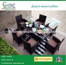 Hot sale outdoor rattan dining set for garden furniture SH-15B