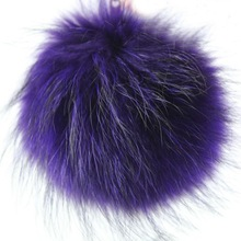 2014 Fur Pom Poms Wholesale Home Decoration Genuine Raccoon Dog Fur Ball Key Chain
