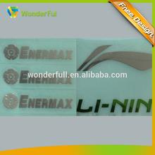 custom label type and electroformed technics metal label sticker