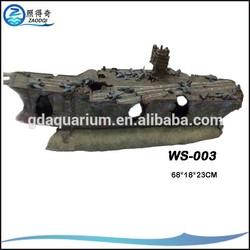 WS-003 model Best quality of aquarium decoration pirate ship and aquarium ship decoration