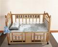 2015 nuevo diseño de bambú verde de fibra de la hoja de cama para bebé niños conjunto ropa de cama ropa de cama cuna conjunto