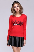 New Autumn And Winter NEW HOT Fashion Trendy Women Ladies Noble Clothes Tops Tees T-shirt SV010594 #