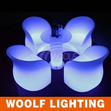 light up plastic led arm chairs for bar