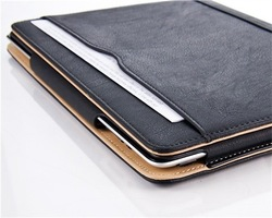 wholesale Tan leather case for The new iPad 2 3 4