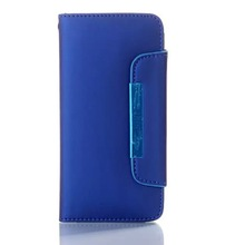 New flip wallet PC+ PU mobile phone case plastic injection mould for iphone 6 covers and cases
