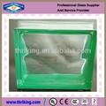 o preço da decoração da parede verde 190x190x80mm lado colorido nublado bloco de vidro