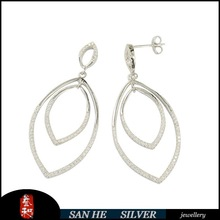 925 sterling silver jewelry wholesale / 925 silver earring