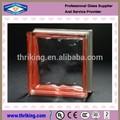 Preço de decoração da parede 190 x 190 x 80 mm vermelho lado colorido nublado bloco de vidro