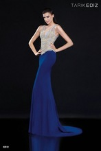 2015 Tarik Ediz New collection RTE92512 popular style from turkey sequins and beaded royal blue elegant mermaid evening dress