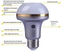 Built-in Recharable Battery flash light 3000k led lighting bulb