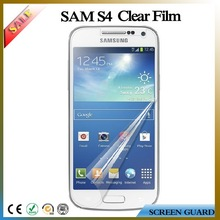 2015 Perfect fit ultra clear phone screen guard/protector/film for Samsung galaxy S4