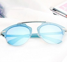 2015 new blue mirror sunglasses