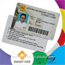 pvc plastic rfid photo id/ic card student and stuff