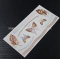 Sexy ouro metálico braço banda tatuagem, tatuagem flash com borboleta