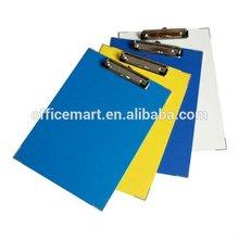 A4 PVC cover vinyl clipboard/Clip board 32.0X23.5CM no pocket