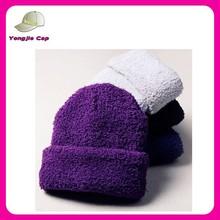 Fashion 2015 custom boys girls winter knit baby beanie hats solid color