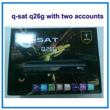 q-sat q26g hd gprs decoder with avatar account French channels