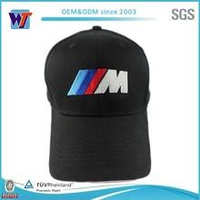 OEM Black Cotton Logo Embroidered Mens Baseball Cap