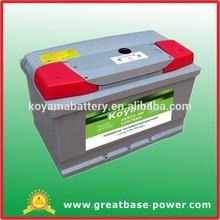 China wholesaler automotive battery 12V 75ah mf car battery