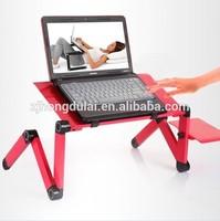 HDL-810 hot sale aluminum red high gloss computer desk
