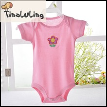 2015 top fashion girls newborn clothes,baby summer short sleeve bodysuits for 0-24Months tinaluling