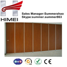 Wood color PVC film laminated steel for Partition wall