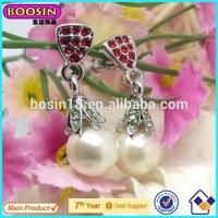 Fashion Boosin Factory Made Dangle Pearl Earrings/Dangle Earrings Jewelry #22561