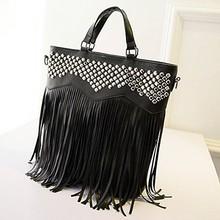 Cheap handbags from china ladies fashion stones handbags studded tassel bag SY5822
