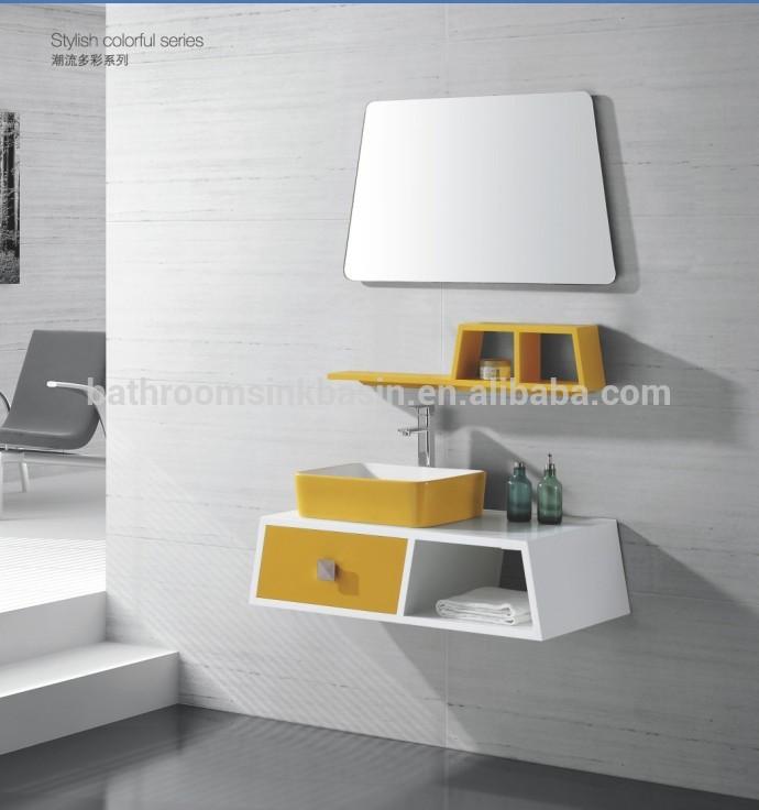 20170406&151155_Badkamer Kast Plastic ~ Eenvoudige gele moderne pvc badkamer ijdelheid kast vt 2581 andere