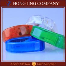 Custom Flashing Sound Activated LED Bracelet and led flashing bracelet